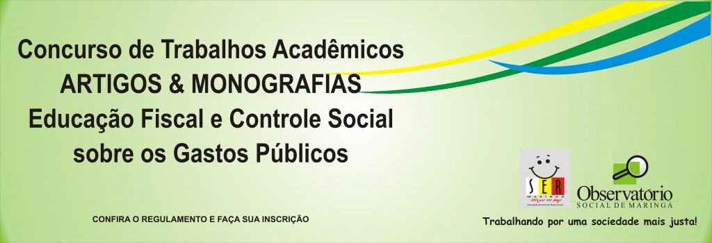 Concurso Artigos e Monografias - Site