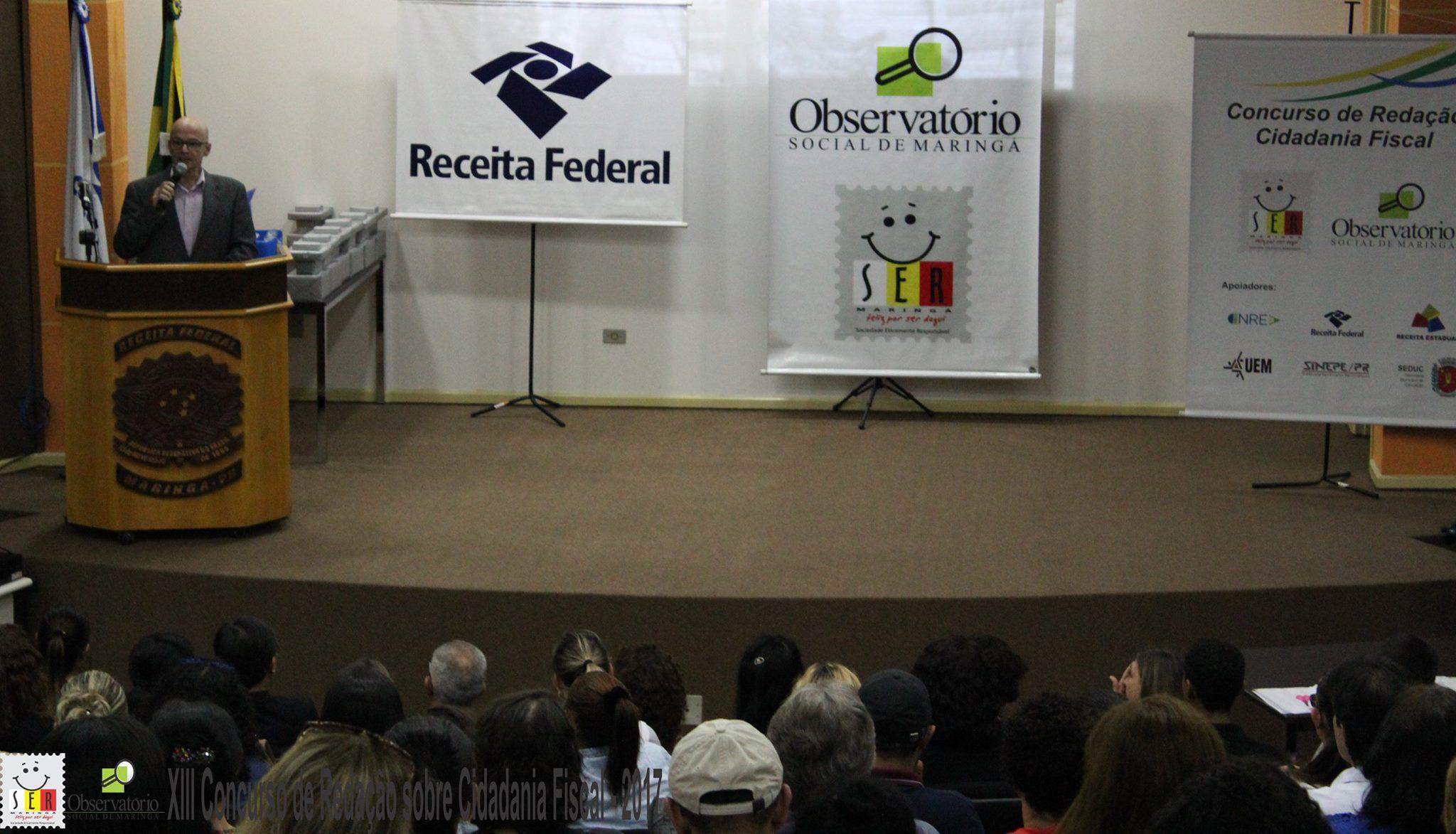 Premiação Do XIII Concurso De Redação Sobre Cidadania Fiscal 2017