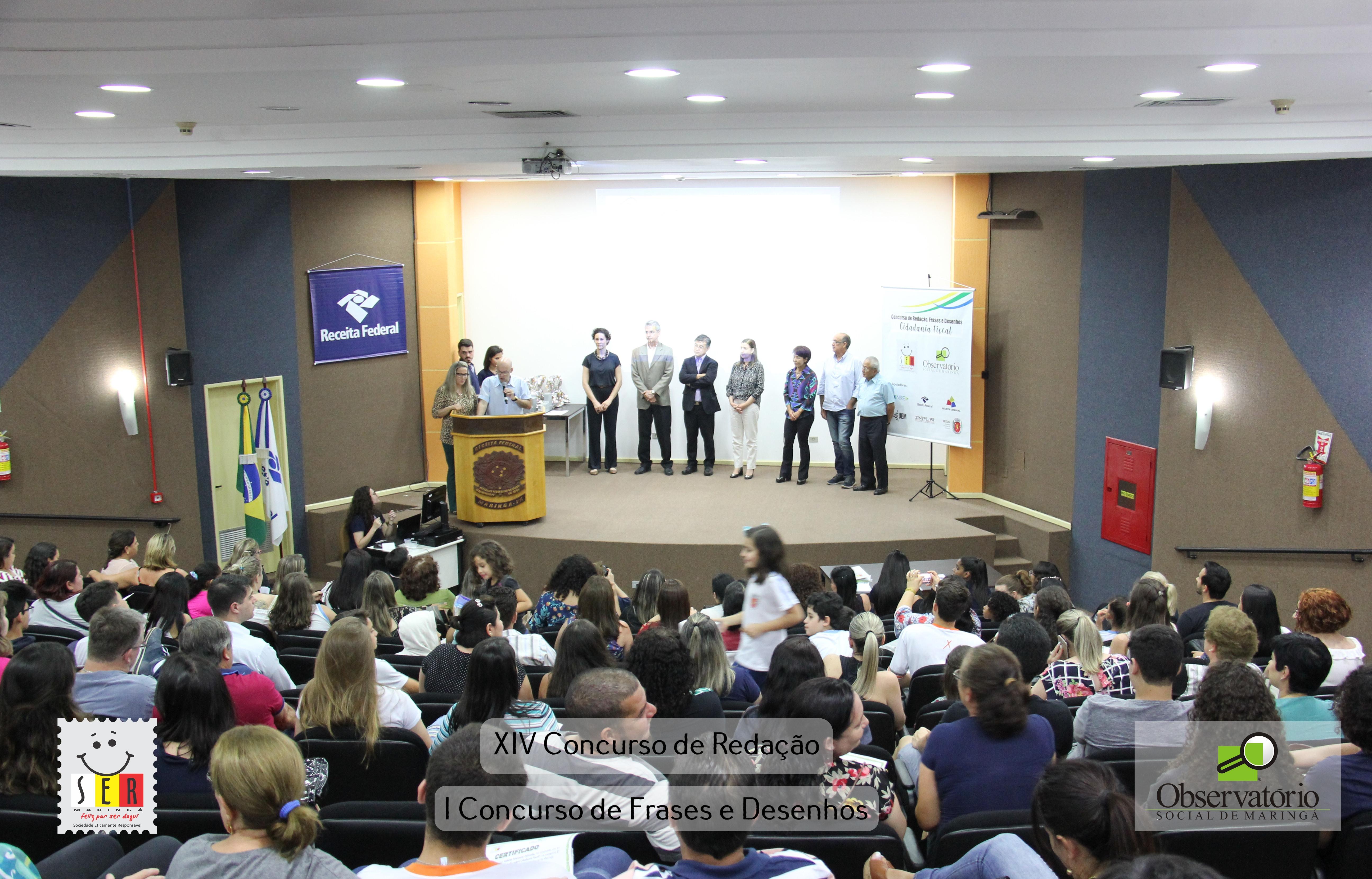 Premiação Do XIV Concurso De Redação E I Concurso De Frases E Desenhos 2018
