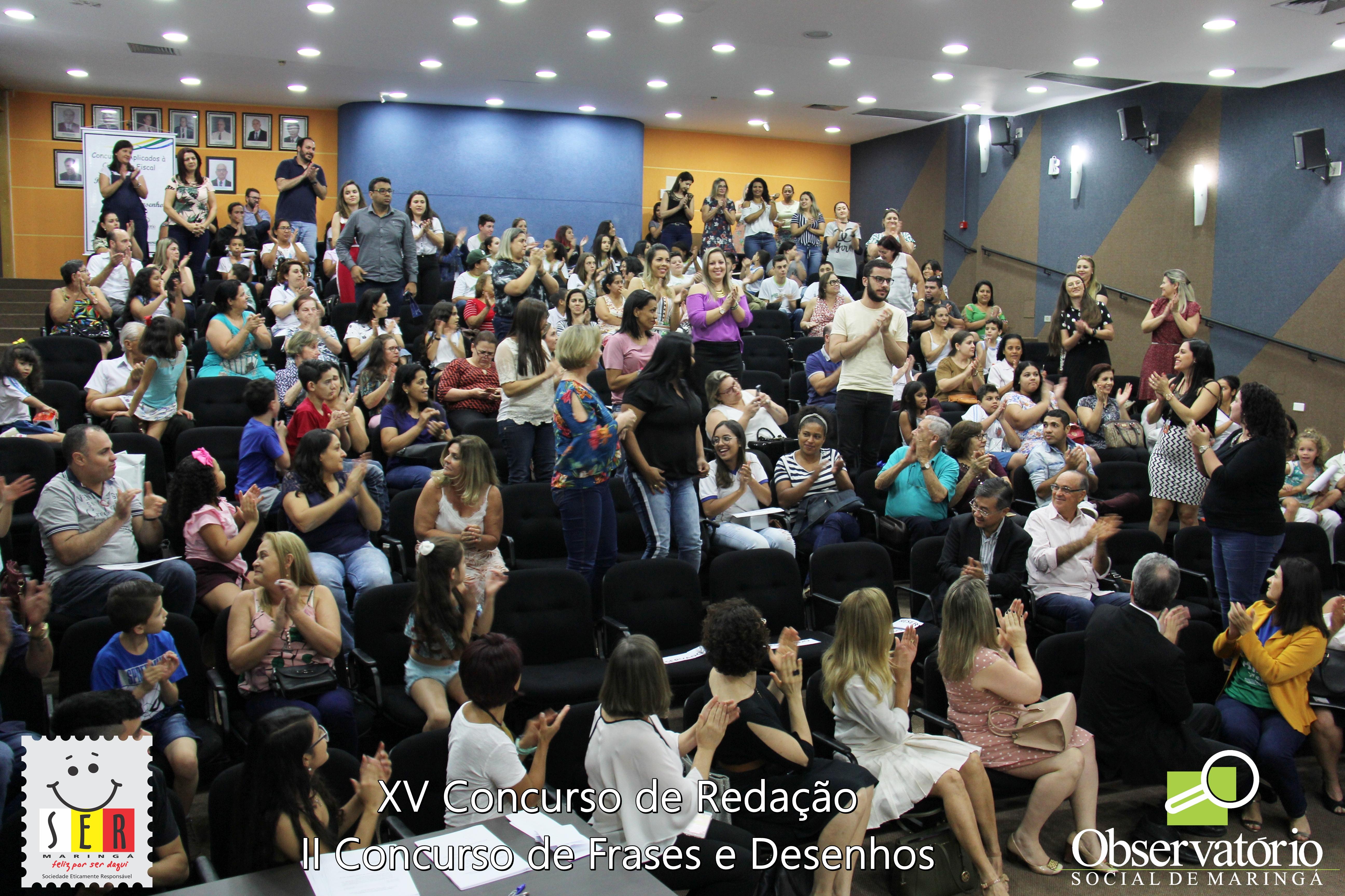 Premiação Do XV Concurso De Redação E II Concurso De Frases E Desenhos